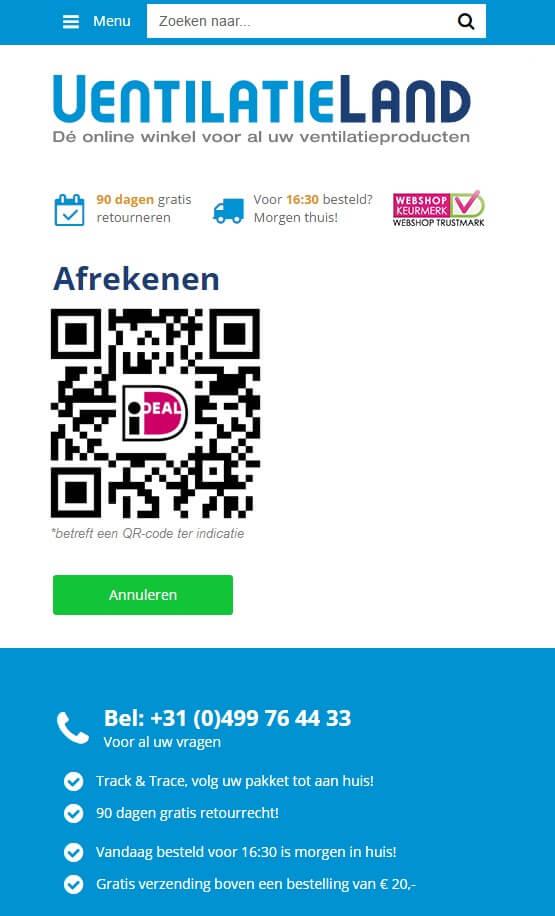 Betalen met iDEAL QR code in webshops nu mogelijk