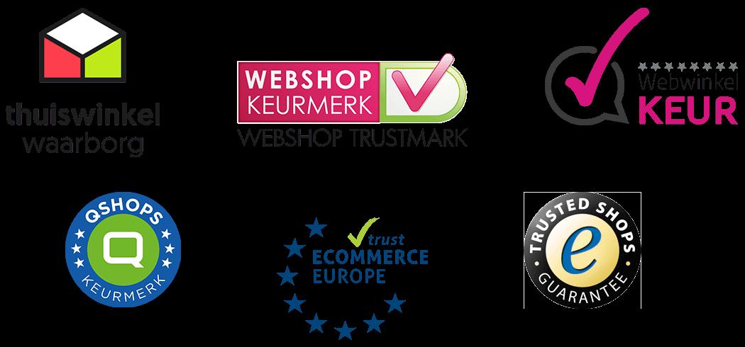 Logo's van de bekendste webshop keurmerken