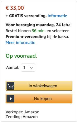 Amazon webshop combineren - buy box