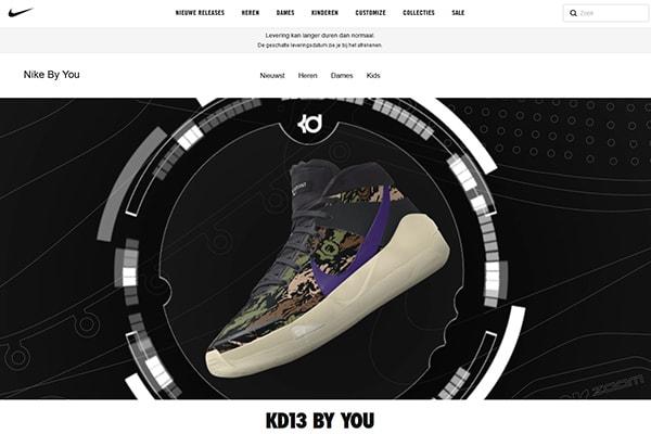 D2C e-commerce voorbeeld Nike