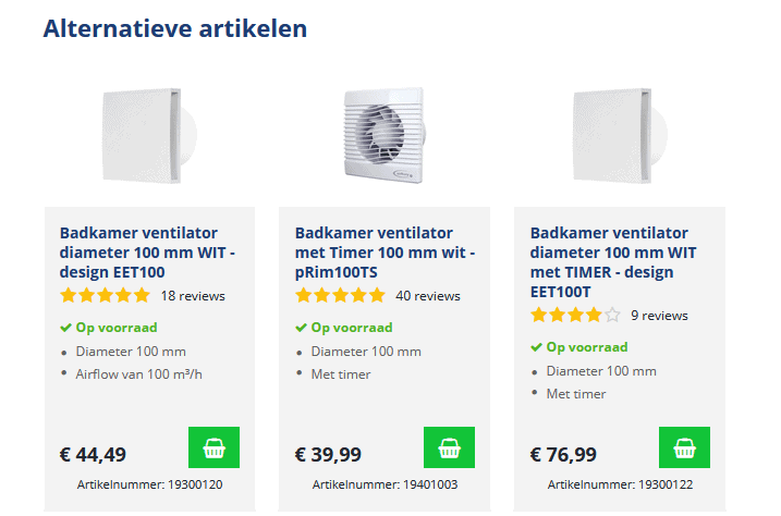 E-commerce upselling tips voorbeeld